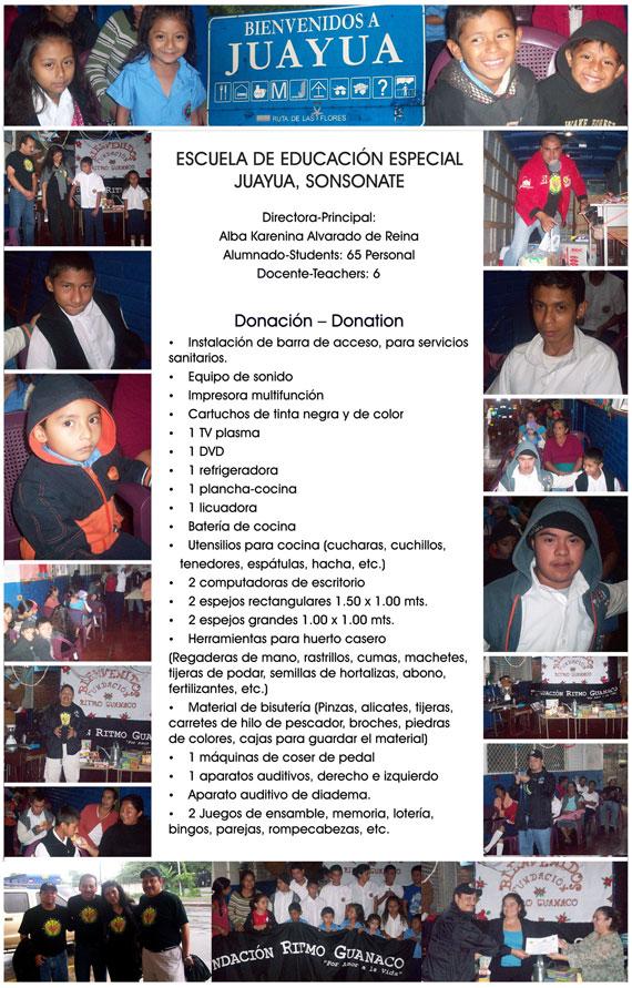 Escuela de Educacion Especial Jauyua, Sonsonate