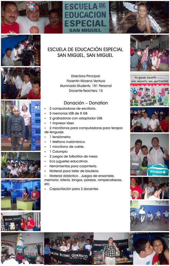 Escuela de Educacion Especial Barrio San Miguel, El Salvador