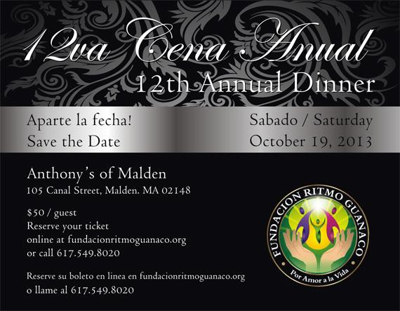 12va Cena de Gala - Fundacion Ritmo Guanaco